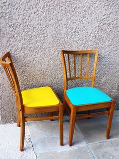 Vintage Wooden chair bistro 1650  sitting renovated by PopVintages