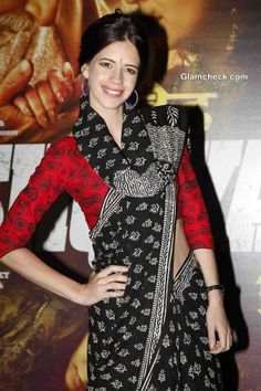 Kalki Koechlin in Sari 2014