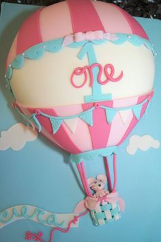 Hot air balloon cake - by Sylvia Cake @ CakesDecor.com - cake decorating website
