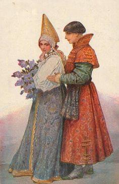 RUSSIAN TRADITIONAL COSTUMES - by Serguei Solomko (Сергей Соломко)