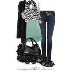 """""""Black and Mint"""" by jaycee0220 on Polyvore"""