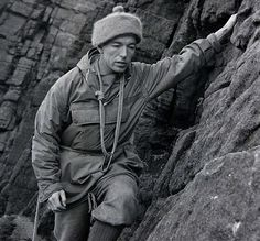 Joe Brown (born 26 September 1930) is an English climber, is considered one of Britain's most pioneering rock climbers. He established many now well-known climbing routes. He reached in 1955, the first ascent of the third highest mountain in the world, Kangchenjunga in the Nepalese Himalaya, with George Band. In 1956 he made the first ascent of the west summit of the Mustagh Tower in the Karakoram with Ian McNaught-Davis.
