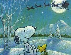 Snoopy waits for Santa
