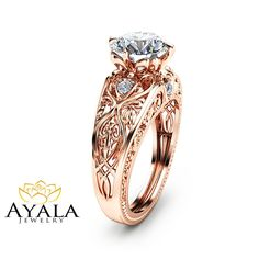 $ 990 Hey, I found this really awesome Etsy listing at https://www.etsy.com/listing/261380547/14k-rose-gold-engagement-ring-unique