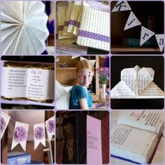 Book-themed Bar Mitzvah - with library card place cards and pencil centerpieces with scrabble letters!