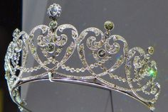 Cartier Tiara | Platinum and diamond Tiara with millegrain placement, specially made for the Countess of Moy, the Cartier jewelry company in 1909. by Skylar Seed