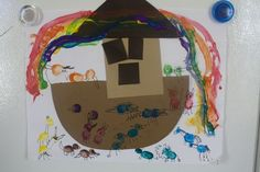 Life with Moore Babies: Fingerprint Noah's Ark