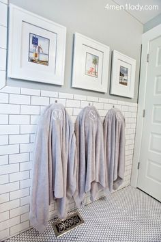 Benjamin Moore gray bathroom, tiled wall - could I faux paint it? by lynn