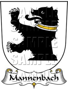 Mannenbach Family Crest apparel, Mannenbach Coat of Arms gifts