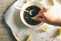 Spring Vegetable Potstickers served with a sweet chili soy dip are an easy way to use up all kinds of vegetables.