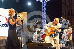 CAPE VERDE, PRAIA - JUN 13: Group Real Companhia (Portugal) performs at the PORFesta in June 13, 2015 in Cape Verde, Praia.
