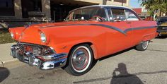 1956 Ford Fairlane 2 Dr. Club Victoria -$34,000 by Magnusson Classic Motors in Scottsdale AZ . Click to view more photos and mod info.