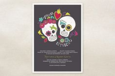 These are just cool. Invitations for Day of the dead inspired wedding