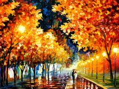 Alegria e romance nas cores de Leonid Afremov