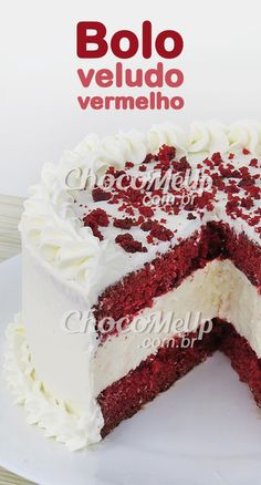 Cupcakes, Cupcake Cakes, Bolo Red Velvet Receita, Classic French Desserts, Cake Decorating Piping, Cake Recipes, Dessert Recipes, Delicious Desserts, Yummy Food