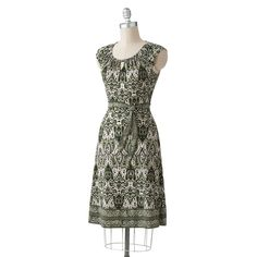 Apt 9 Paisley Shirred Dress, Elysian Green  (owns it)