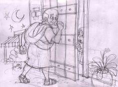 """Pedro bateu à porta do alpendre, e uma serva chamada Rode veio atender. Ao reconhecer a voz de Pedro, tomada de alegria, ela correu de volta, sem abrir a porta, e exclamou: """"Pedro está à porta! """" Atos 12:13,14"""