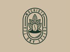 MOCHIOTO COFFEE & TEA by Adi Krisdian on Dribbble Coffee Shop Branding, Coffee Shop Logo, Identity Card Design, Letterhead Design, Cafe Logos, Vintage Coffee Shops, Tea Logo, In Natura, Coffee Design
