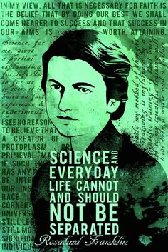 """[Quotes] """"Science and everyday life cannot and should not be separated."""" - Rosalind Franklin. follow @dquocbuu like and repin it if you love it"""