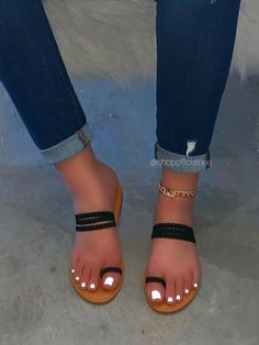 Bling Sandals, Two Strap Sandals, Cute Sandals, Cute Shoes, Me Too Shoes, Shoes Sandals, Mens Fashion Shoes, Fashion Sandals, Look Fashion