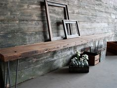 more great walls - urban loft bench from reclaimed wood. (urbanwoodgoods.com)