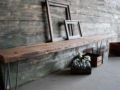 more great walls - urban loft bench from reclaimed wood. (urbanwoodgoods.com)