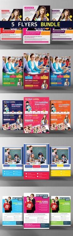 Junior School Education Flyer Bundle