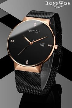 Diamond Minimalist Rose Gold Stainless Steel Watch Diamond Minimalist Watch - Diamond Watches Collection : AM to PM // watches // mens fashion // affrodable // military // urban men // minimalist // Stylish Watches, Luxury Watches For Men, Expensive Watches For Men, Cool Watches For Women, Unique Watches, Casual Watches, Best Affordable Watches, Mesh Armband, Accesorios Casual