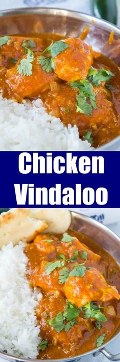 Chicken Vindaloo - A spicy Indian curry you can make at home. Lots of spices come together for a super flavorful dinner. Serve over rice or with naan bread.