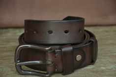 Men Belt Cowhide Belt Distressed Belt Brown Genuine Leather Belt Classic Belt Strap by SherryJewelry, $25.00