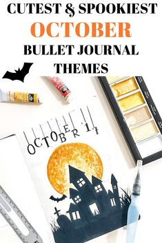Here are 15 super cute and simple bullet journal theme ideas for October to make your bujo perfect for Halloween and fall! Here are 15 super cute and simple bullet journal theme ideas for October to make your bujo perfect for Halloween and fall! Bullet Journal Simple, Bullet Journal October, Bullet Journal How To Start A, Bullet Journal Layout, Bullet Journal Ideas Pages, Bullet Journal Inspiration, Book Journal, Bullet Journals, Halloween Themes