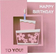 Silhouette Design Store - View Design #45825: daniela angelova happy birthday accordion card