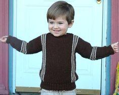 ABC Knitting Patterns - Easy Child's Garter Stitch Cuff-to-Cuff Sweater