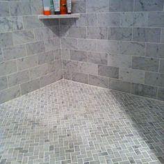 herringbone shower floor
