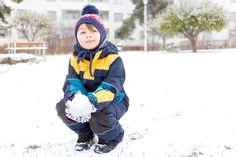 Snow! - My son playing in the snow