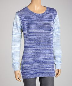 Look cool with color blocking. This striped, stylish piece is a wonderful choice for a cool, crisp day.Measurements (size M): 27'' long from high point of shoulder to hem100% cottonHand washImported