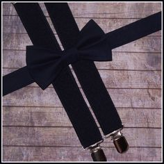 Navy Bow Tie and Suspenders Navy Bow Tie and by TheBoytiqueExpress, $29.00