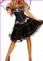 Forever Young Premium Quality Burlesque Moulin Rouge FANCY DRESS Costume Outfit Corset + Knee Length Satin Skirt - Small UK 8-10    Forever Young Premium Quality Burlesque Moulin Rouge FANCY DRESS Costume Outfit Corset + Knee Length Satin Skirt - Small UK 8-10