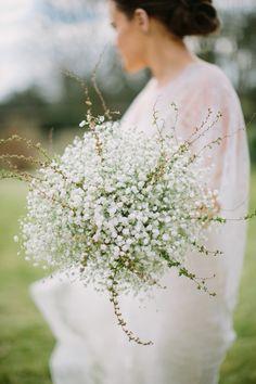 A Very Elegant Bridal Bouquet Of Lush White Gypsophila (Baby's Breath) All White Wedding, Floral Wedding, Dream Wedding, Fall Wedding, Perfect Wedding, Santorini Wedding, Bride Bouquets, Flower Bouquets, Gypsophila Bouquet