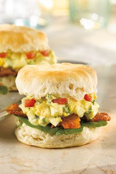 Dietz & Watson's Gourmet Bacon & Egg Biscuit with spinach and tomato looks fancy, but is a surprisingly easy way to impress your guests at brunch.