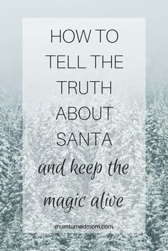 to tell the truth about Santa and keep the magic alive How to tell your child the truth about Santa while keeping the Christmas magic alive.How to tell your child the truth about Santa while keeping the Christmas magic alive. Parenting Advice, Kids And Parenting, Practical Parenting, Christmas Fun, Holiday Fun, Winter Holiday, Magical Christmas, Christmas Stocking, Favorite Holiday