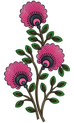 Folk Embroidery Design Love The Tradition Simple Embroidery, Folk Embroidery, Learn Embroidery, Embroidery Patterns, Floral Embroidery, Floral Bedspread, Mosaic Flower Pots, Popular Crafts, Free Machine Embroidery Designs