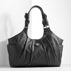 bf43abcb19 Simply Vera Vera Wang Bayonne Pleated Satchel Green Handbag