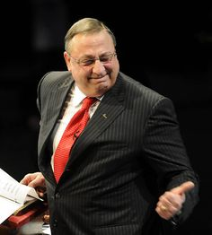 """Maine Governor Paul LePage accused the University of Maine of turning on an electric motor when the wind wasn't blowing their turbine to fool people into thinking that """"wind power works."""" This isn't a joke. Reported by Mike Tipping with the Bangor Daily News. (Idiot Level -Imbecile)"""