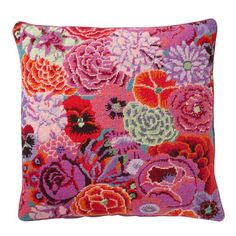loving these needlepoint pillows - Charleston Summer - Ehrman Tapestry Needlepoint Pillows, Needlepoint Designs, Needlepoint Kits, Tapestry Kits, Cross Stitch Pillow, Rug Hooking, Pillow Design, Sewing Crafts, Needlework