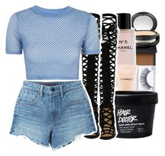 """"" by pinksemia ❤ liked on Polyvore featuring NARS Cosmetics, MAC Cosmetics, Chanel, Topshop and Alexander Wang"