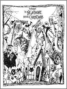 Nightmare Before Christmas Mandala Printable Coloring Book Page
