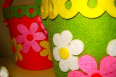 2012 Easter Decorations @ Home - Felt Easter Baskets