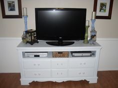 take out the drawers on our dresser tv stand and store the dvd player for the home pinterest muebles restaurados y decoracin