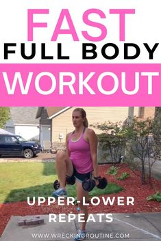 Use this fast full body workout to get rid of your mombod. Moms can use this fast and effective workout to get strong. Build your strength with this quick full body workout. #fullbodyworkout #workout #wreckingroutine Workouts Outside, Fun Workouts, Core Workouts, Workout Ideas, Fitness Workouts, Women Full Body Workout, Quick Full Body Workout, Core Workout Challenge, Health Programs